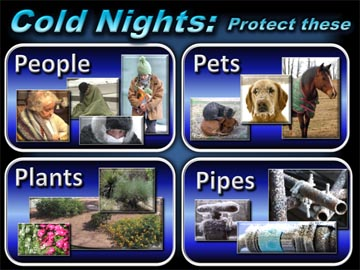 Cold Nights - Protect People, Pets, Plants, and Pipes