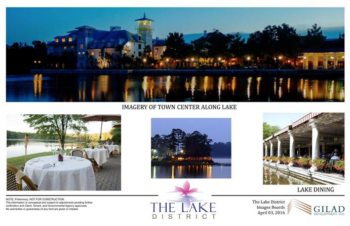 Imagery of Town Center Along Lake